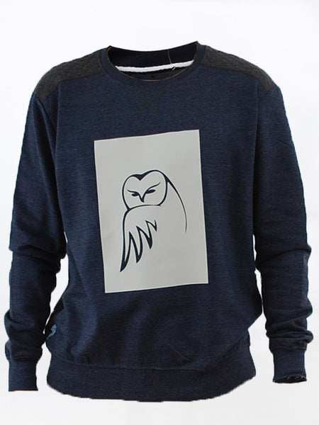 Blue Crested Owl Sweat Shirt