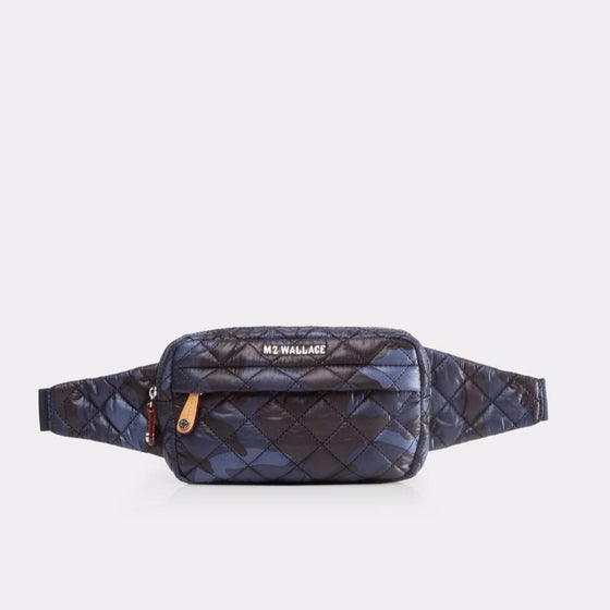 MZ Wallace Metro Belt Bag Blue Black Camo