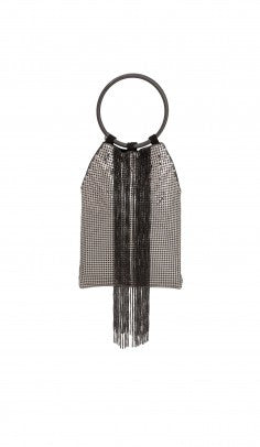 Cascade Fringe Small Bag Pewter