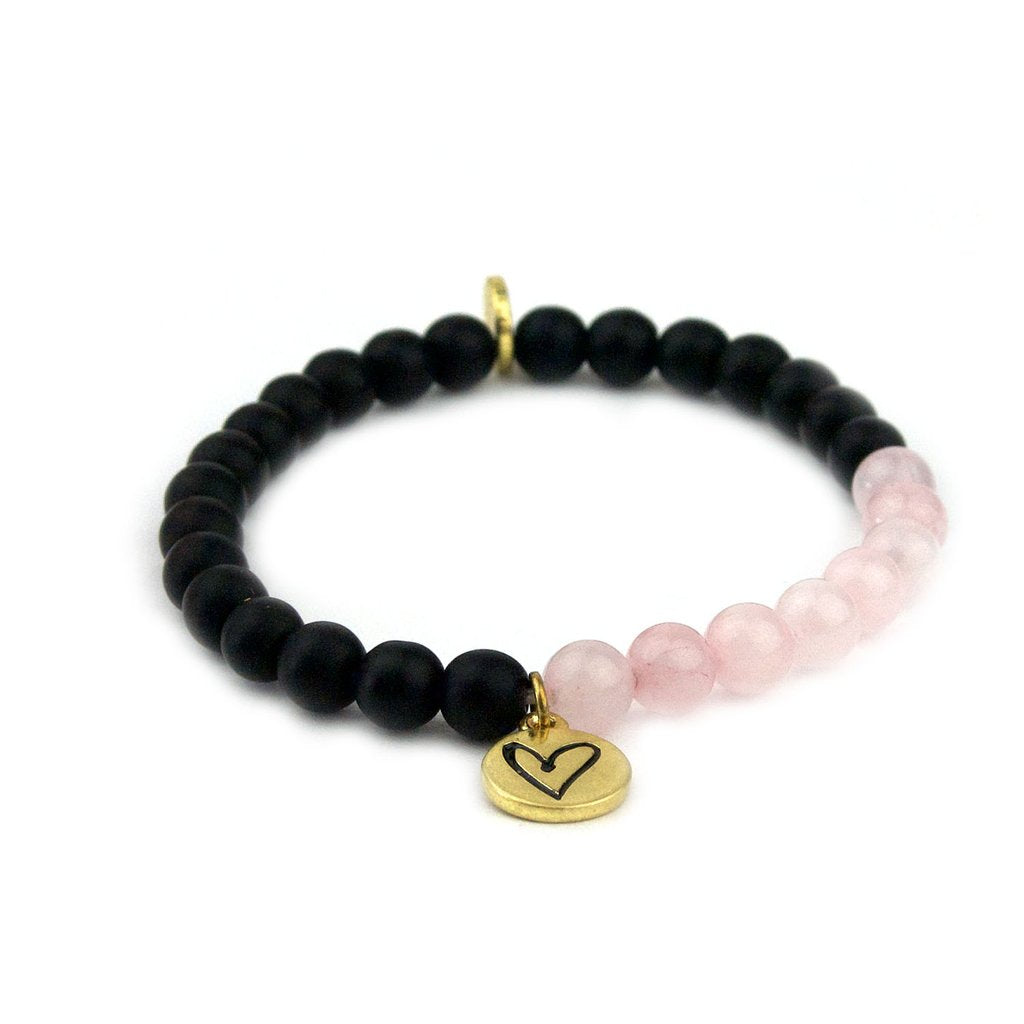 Pink Ribbon Natural Stone Bracelet