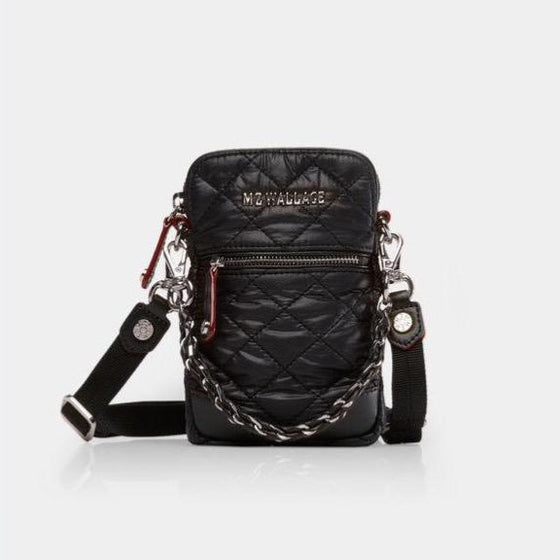 MZ Wallace Micro Phone Crossbody Black
