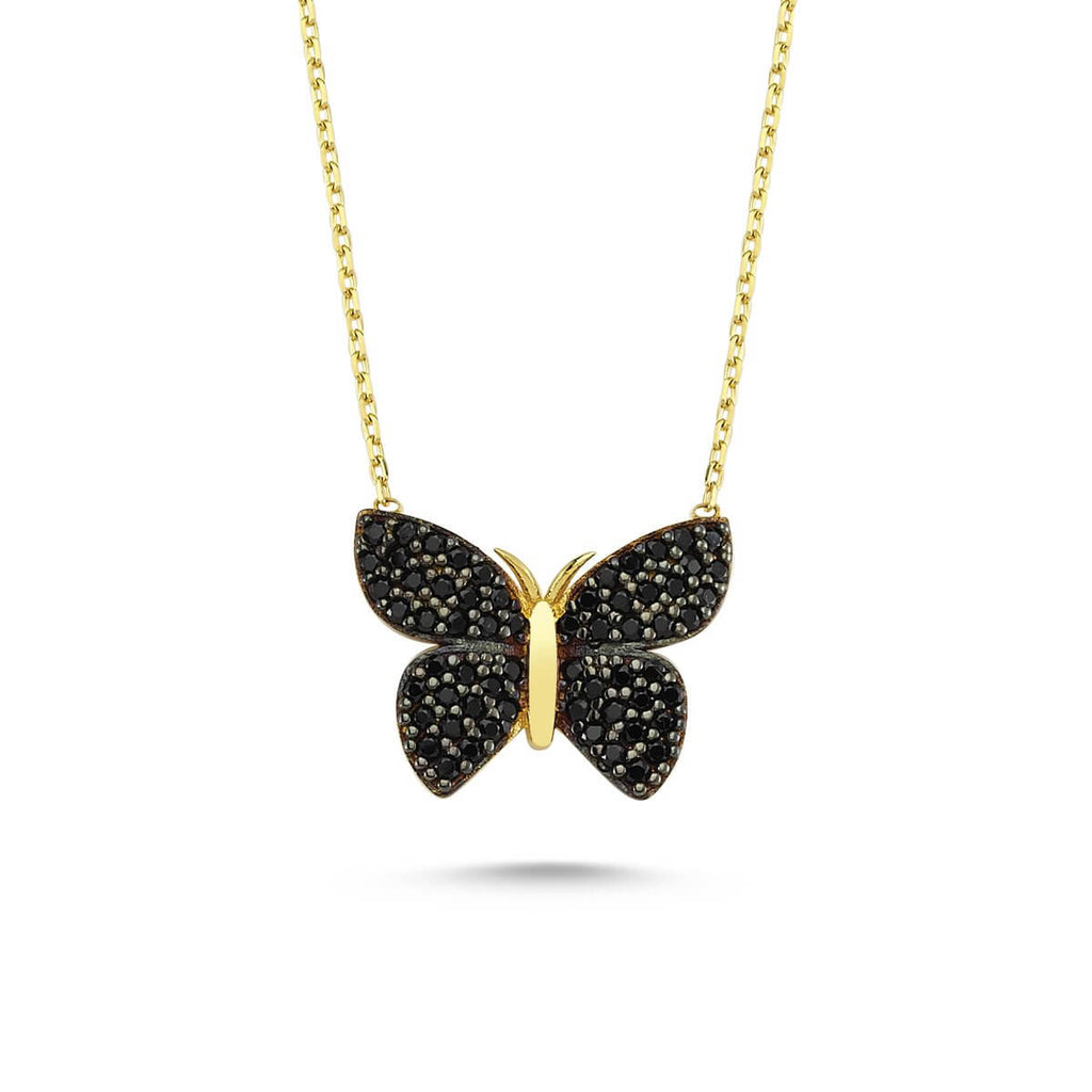 Butterfly Necklace Black