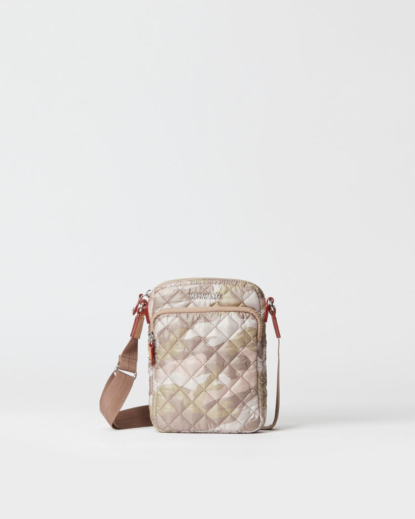 MZ Wallace Micro Metro Crossbody Blush Camo