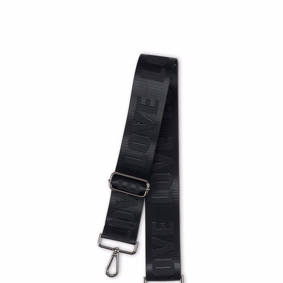 Handbag Strap LOVE Black/ Black