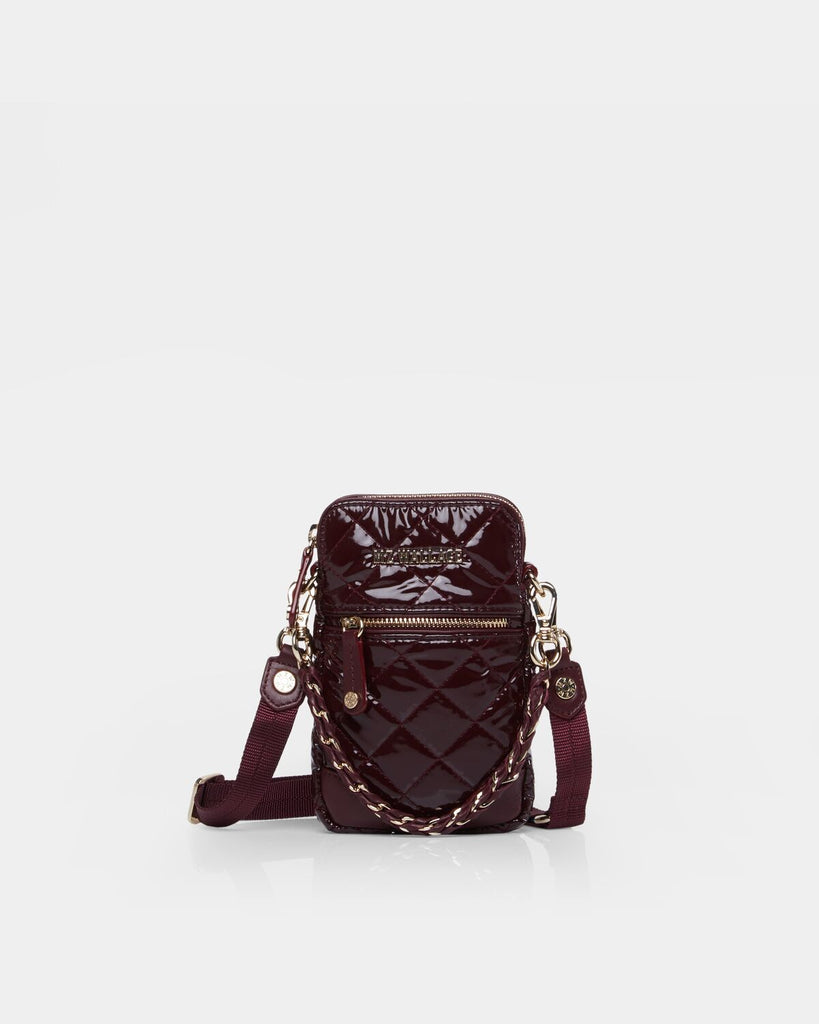 MZ Wallace Micro Phone Crossbody Port Lacquer