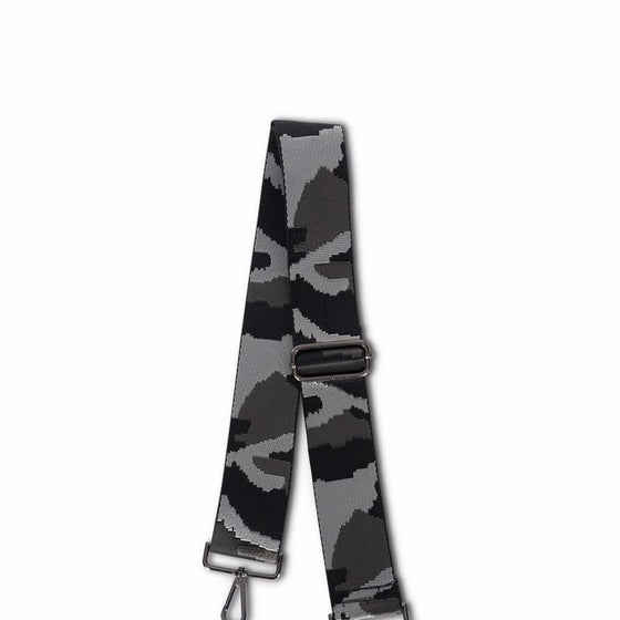 Handbag Strap Black & Grey Camo