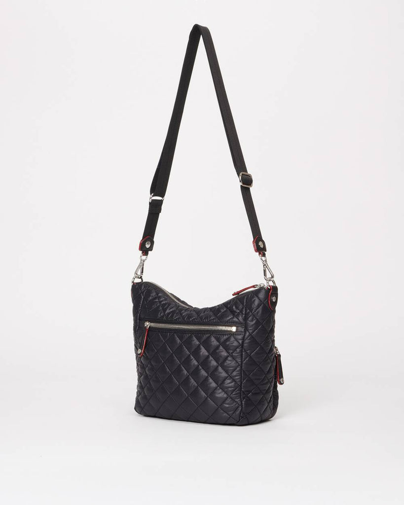 MZ Wallace Small Crosby Hobo Black