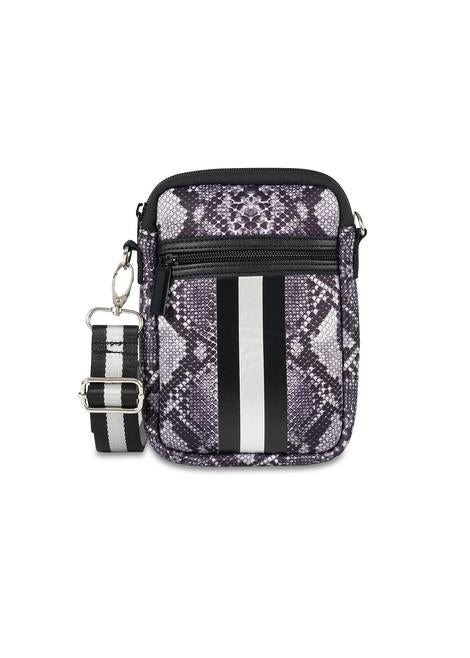 Casey Neoprene Crossbody Grey Snake