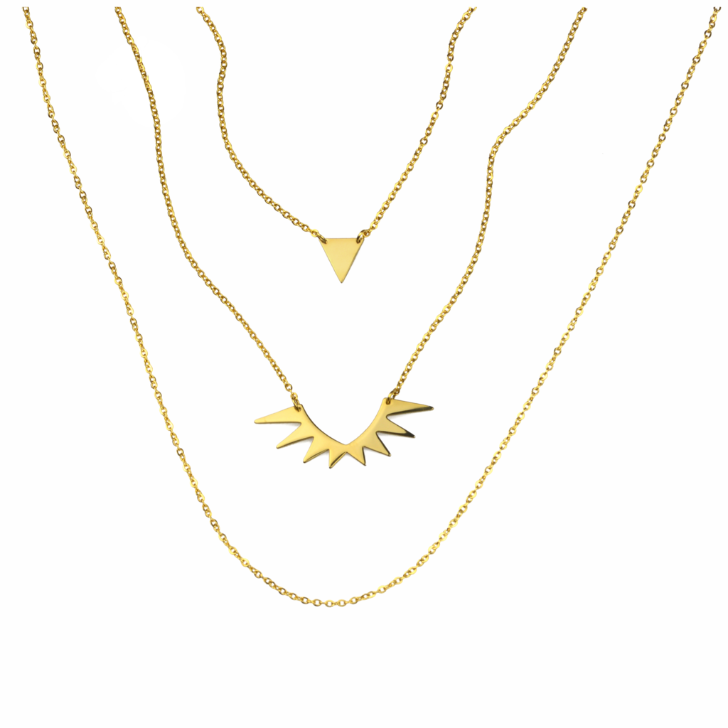 Olympia Layered Necklace Gold