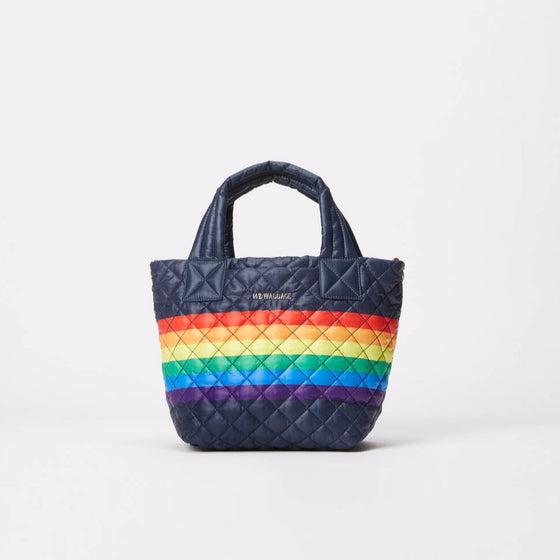 Mini Metro Tote Deluxe Dawn with Rainbow Stripe