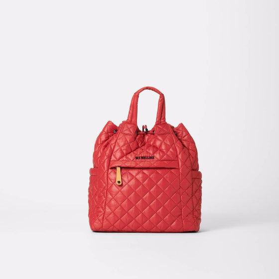 MZ Wallace Small Convertible Backpack Red Dahlia