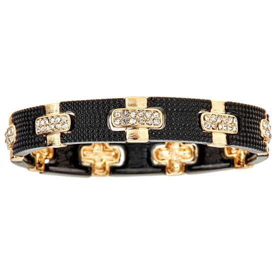 Stretch Bracelet Black & Gold