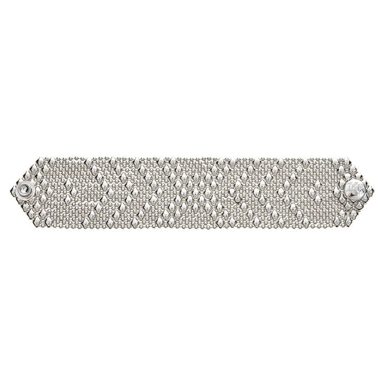 Silver Mesh Liquid Metal Bracelet Medium