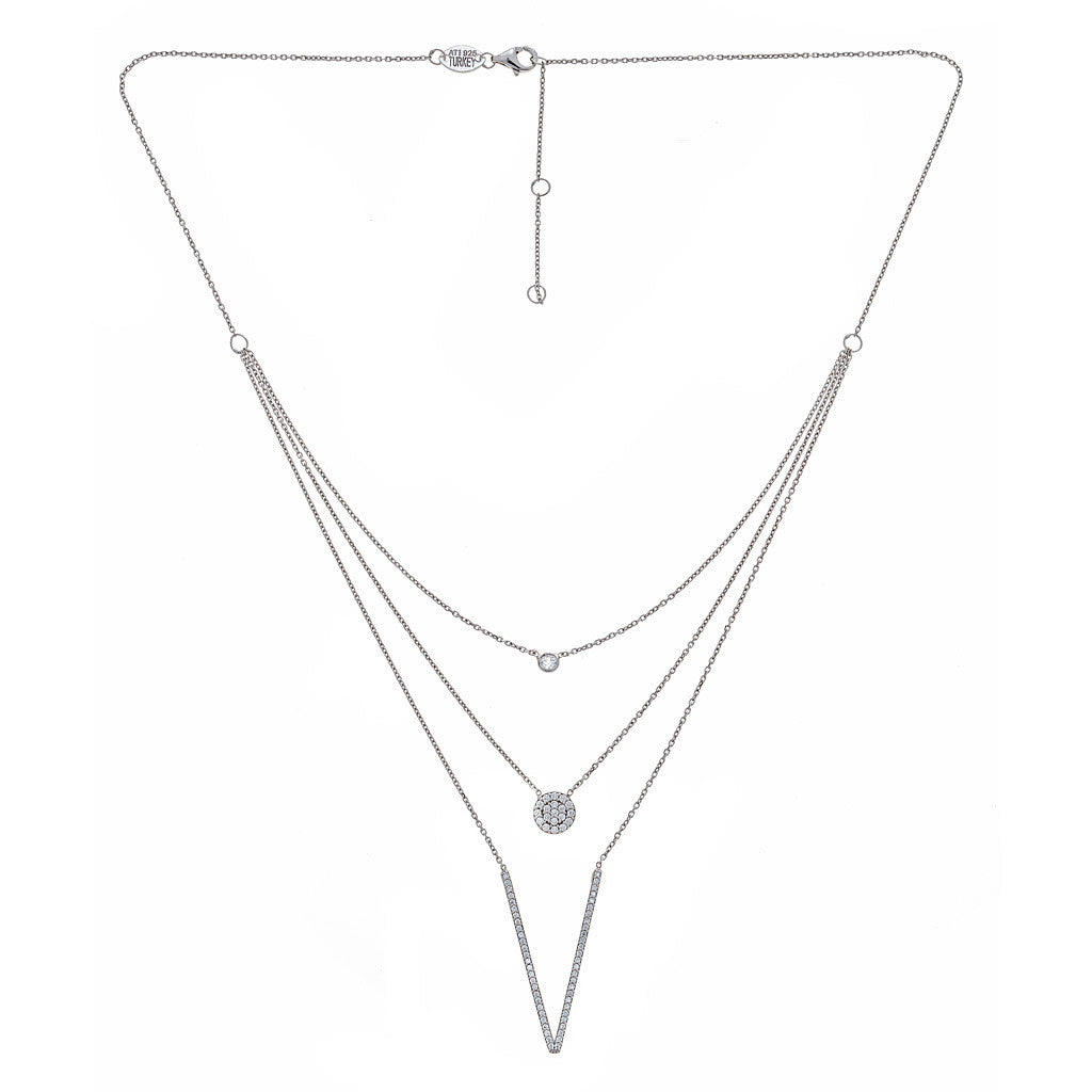 3 Layer Necklace Silver