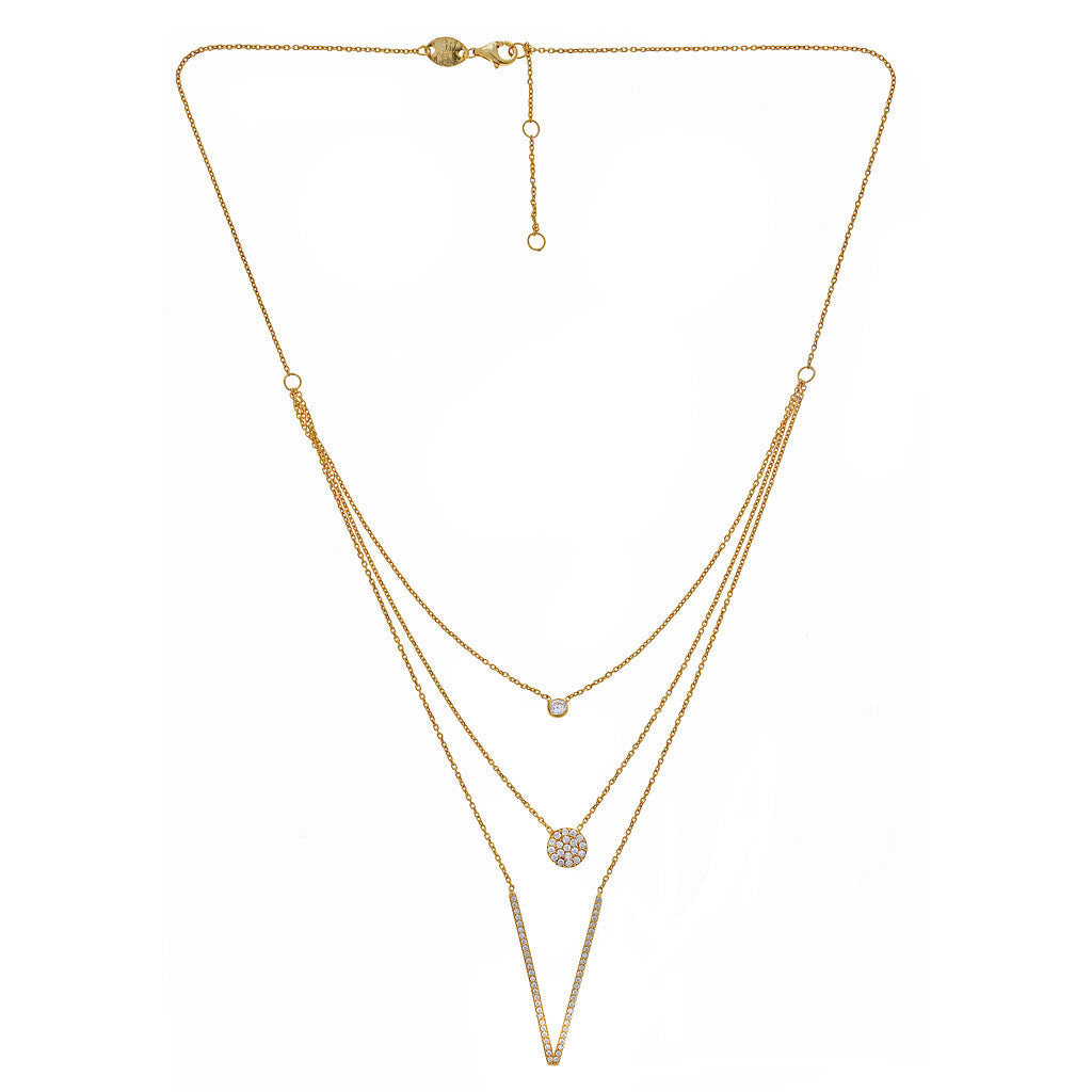 product necklaces gold three detail necklace herringbone all braided aw brands colour