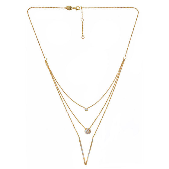 3 Layer Gold Necklace