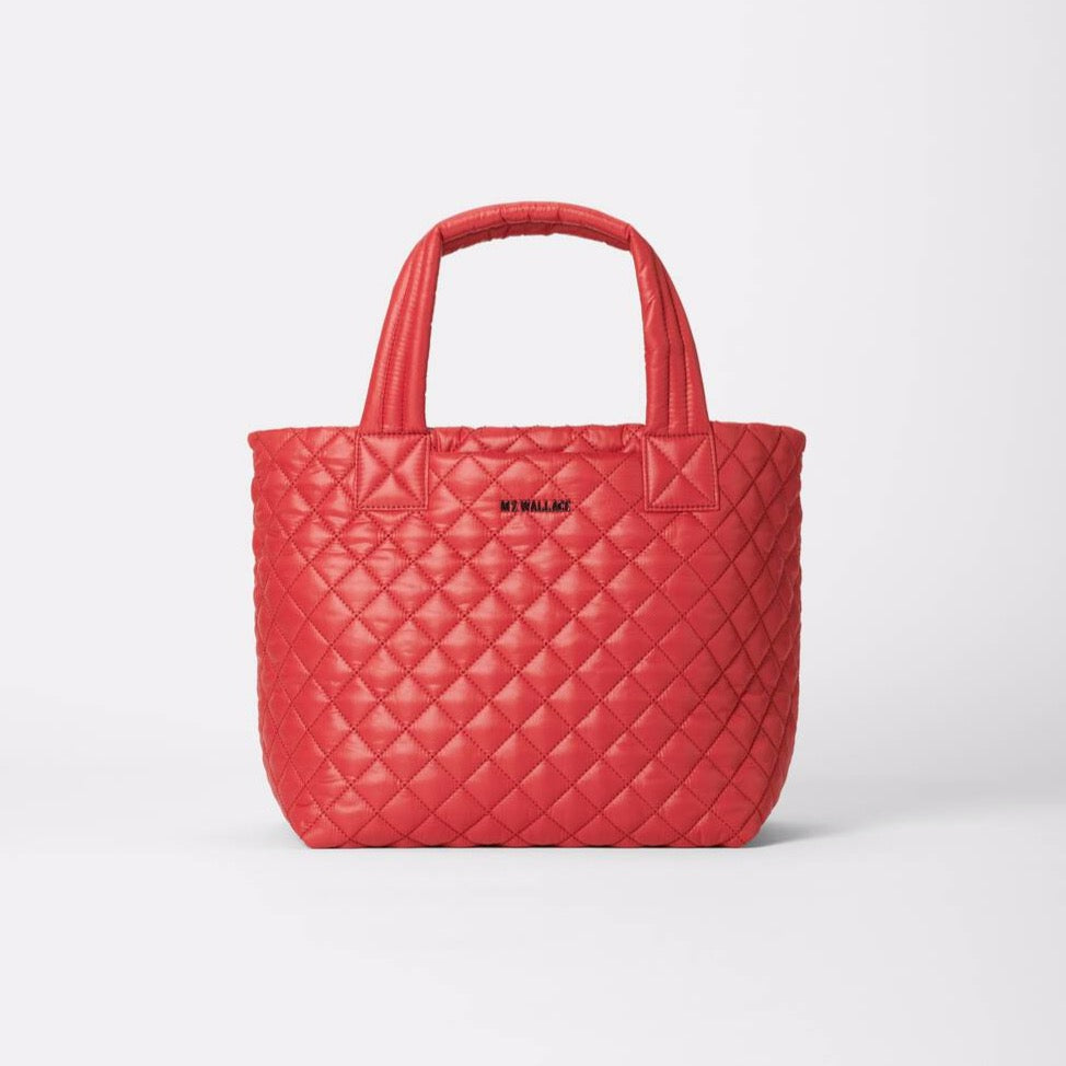 MZ Wallace Small Metro Tote Deluxe Red Dahlia