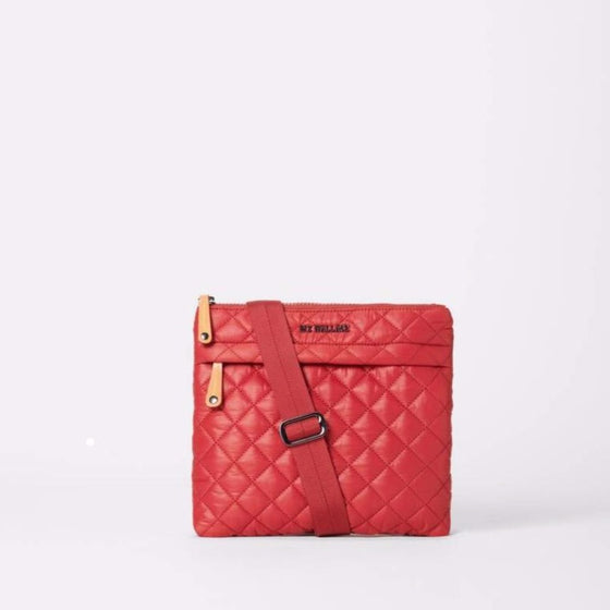 MZ Wallace Metro Flat Crossbody Red Dahlia
