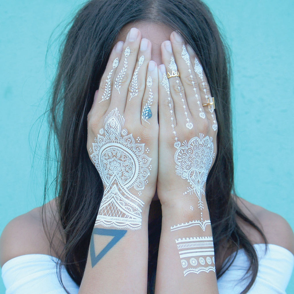 White Henna Tattoo 1