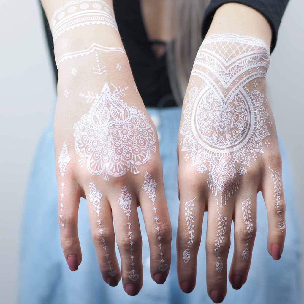 White Henna Tattoo 2