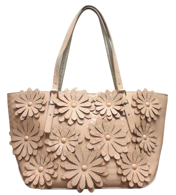 Flower Tote Nude