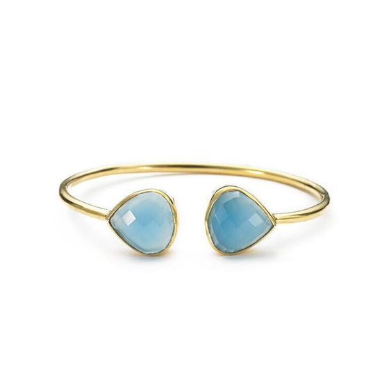 Teardrop Bangle Blue Chalcedony