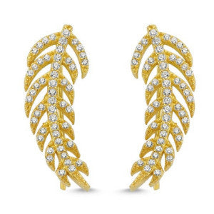 Feather Ear Climber Gold