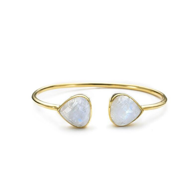 Teardrop Bangle Moonstone