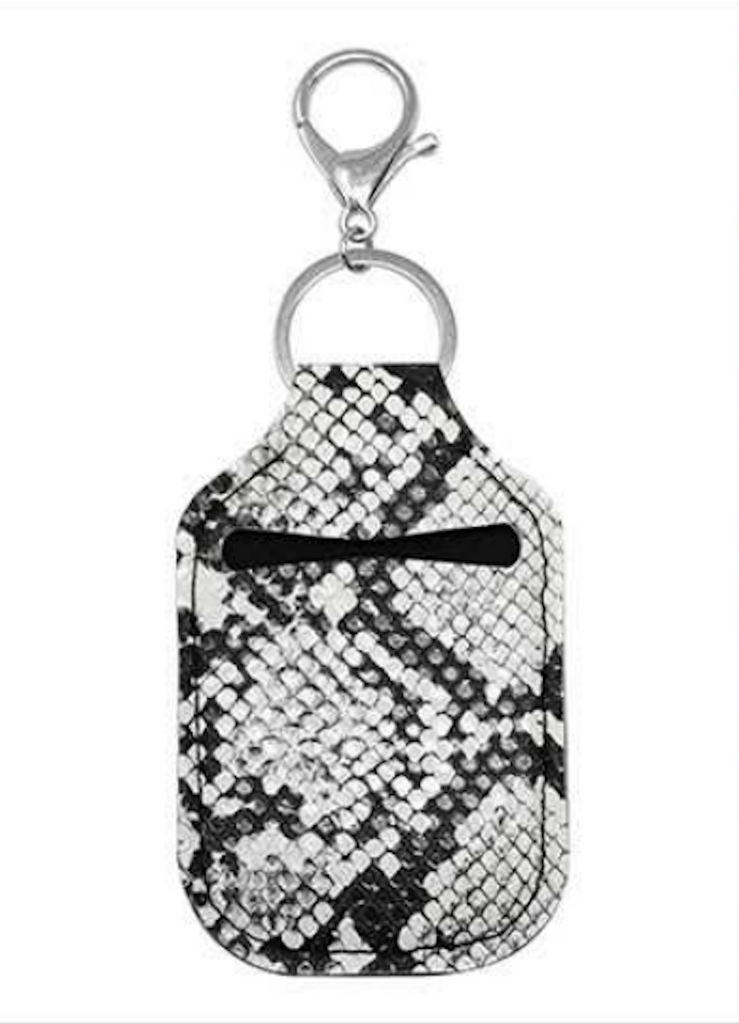 Sanitizer Pouch Black White Snake