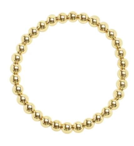 14 Karat Gold Fill Stretch Bracelet Large Bead