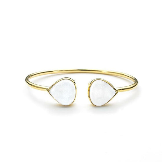 Teardrop Bangle White Druzy