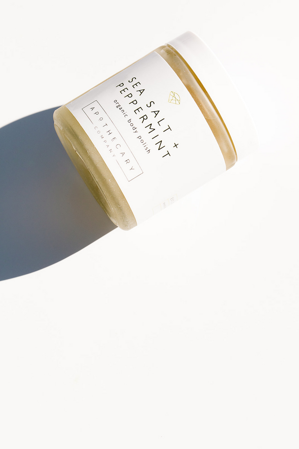 SEA SALT + PEPPERMINT Organic Body Polish - Apothecary Co.