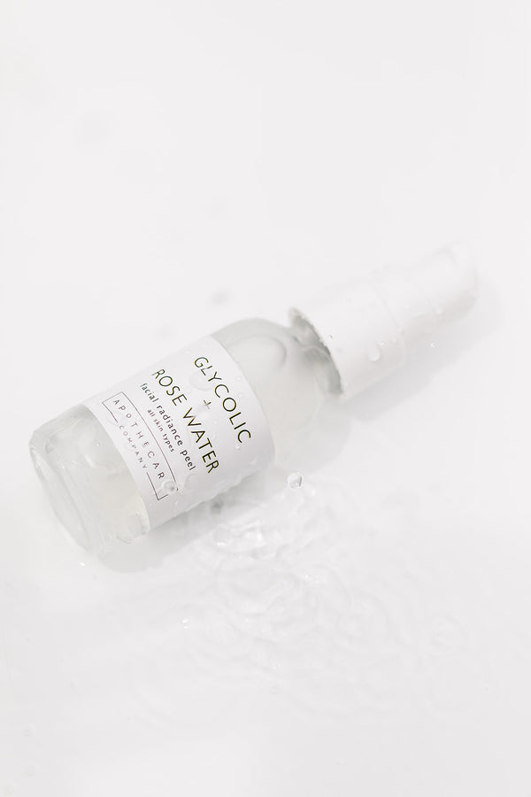 Glycolic + Rose Water Facial Radiance Peel - Apothecary Co.