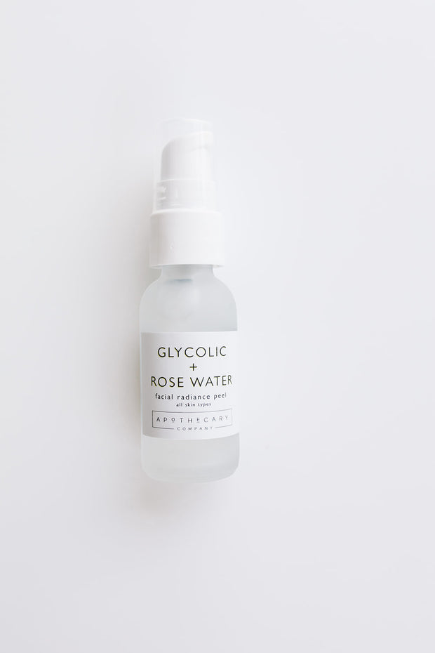 Glycolic + Rose Water Facial Radiance Peel 1