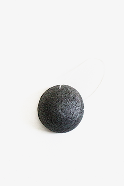 NATURAL BAMBOO CHARCOAL KONJAC SPONGE - Apothecary Co.