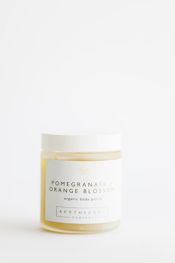 POMEGRANATE + ORANGE BLOSSOM Organic Body Polish - Apothecary Co.