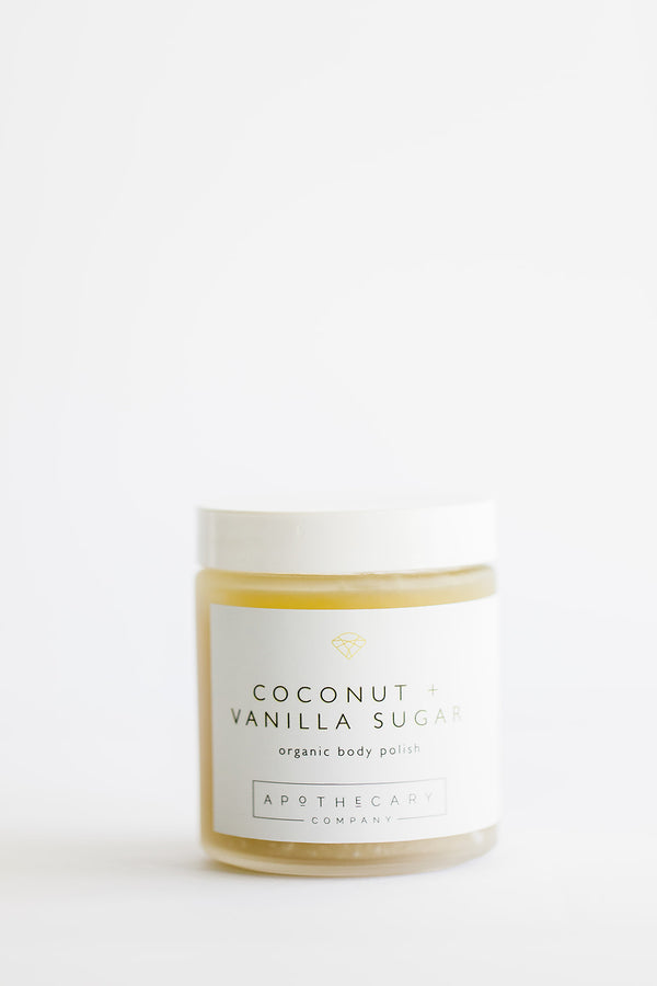 COCONUT + VANILLA SUGAR Organic Body Polish - Apothecary Co.