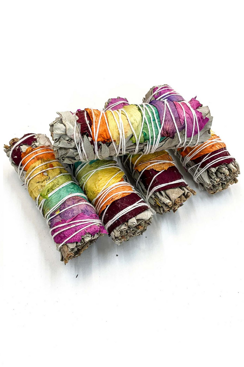 Chakra Rose Smudge Stick - Apothecary Co.