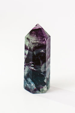 Rainbow Fluorite Crystal Point - Apothecary Co.