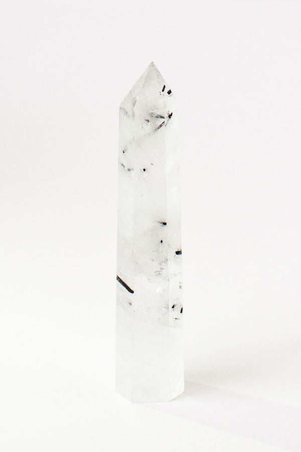 Black Tourmalinated Quartz Point - Apothecary Co.