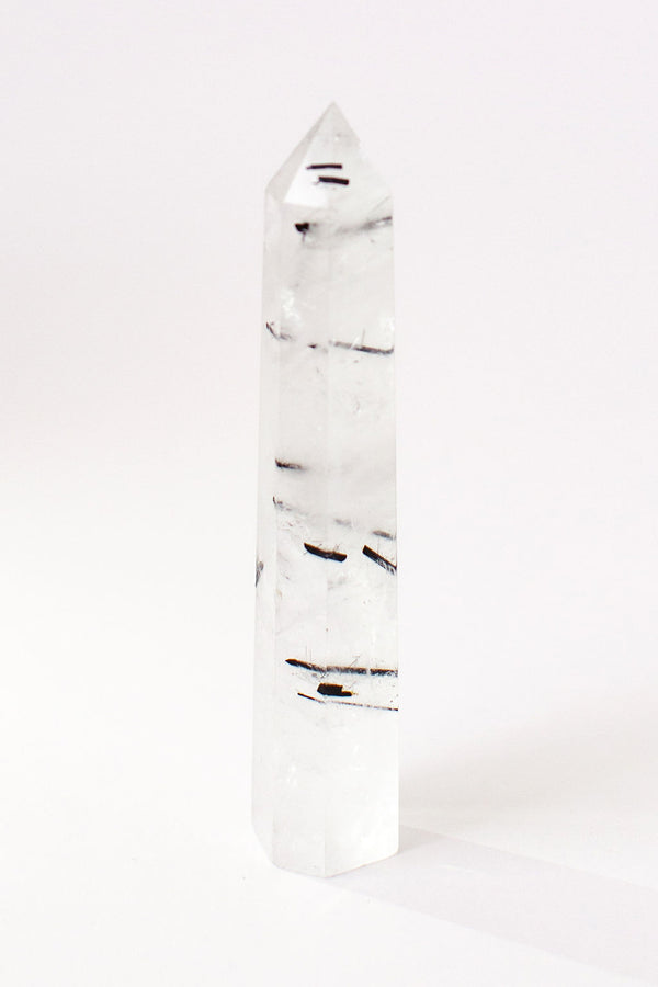 Black Tourmalinated Quartz Point | Apothecary Company