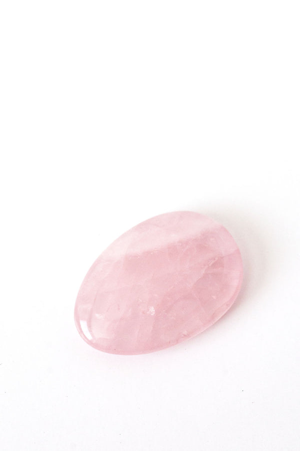 Rose Quartz Worry Stone - Apothecary Co.