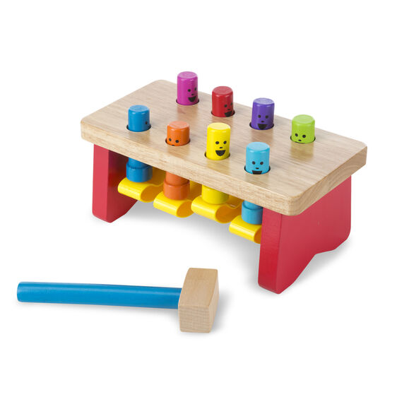 Deluxe Wooden Pounding Bench Toddler Toy - Brambler Boutique