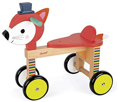 Wooden Fox Ride-On Baby Toy - Brambler Boutique
