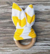 Handmade Wooden Natural Baby Teething Ring - Brambler Boutique