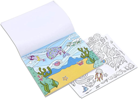 Color Your Own Sticker Pad - Animals - Brambler Boutique