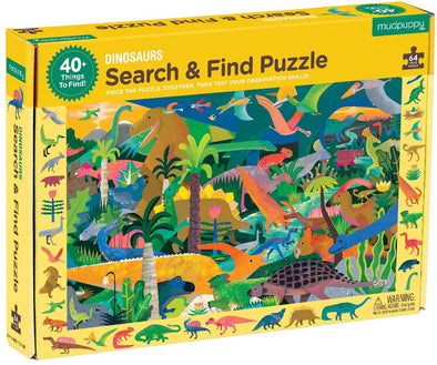 Dinosaur Search and Find Puzzle - Brambler Boutique