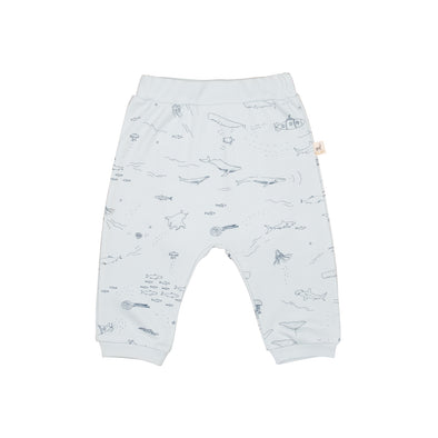Organic Infant Pants - The Story - Winter Sky - Brambler Boutique