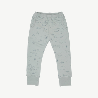 Organic Terry Jogger - The Story - Chinoise Green - Brambler Boutique