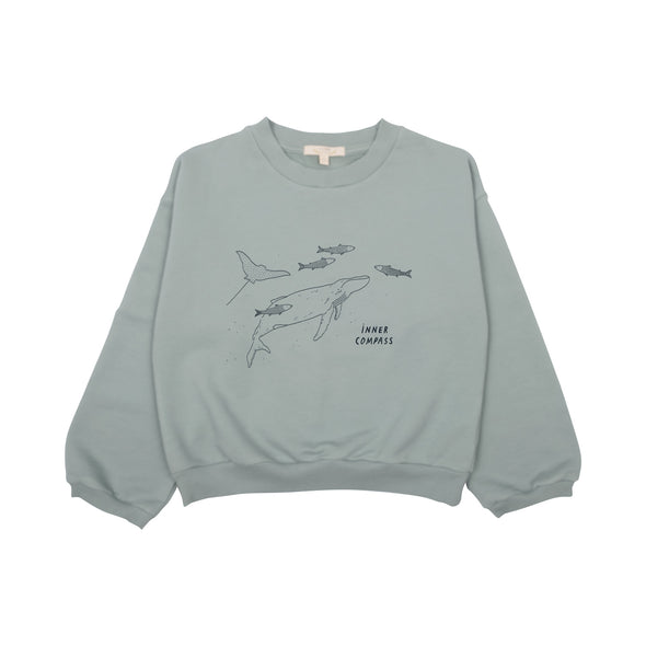 Organic Terry Sweatshirt - Inner Compass - Brambler Boutique